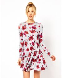 ASOS Collection | Swing Dress in Floral Print | Lyst