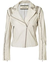 By Malene Birger Naroa Leather Jacket - Lyst