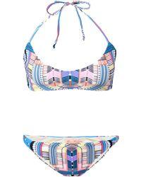 Mara Hoffman Electric Casino Basket Weave Bikini - Lyst