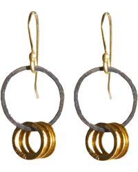 Rosanne Pugliese - Mini Hoop Drop Earrings - Lyst