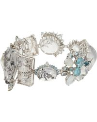 Sharon Khazzam | Dentritic Quartz Diamond Arctic Bracelet | Lyst