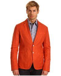 Just Cavalli Cotton Linen Blazer - Lyst