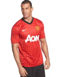 Nike Manchester United Home Replica Jersey - Lyst
