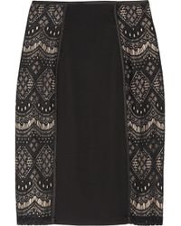 Alice By Temperley - Dita Lace Paneled Jersey Skirt - Lyst