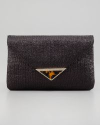 Elaine Turner - Bella Raffia Envelope Clutch Bag - Lyst