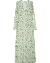 Issa Printed Cotton-Voile Maxi Dress - Lyst