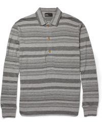 Kolor Striped Cotton jersey Polo Shirt - Lyst