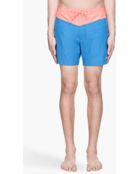 Marc By Marc Jacobs - Electric Blue and Coral Jack Nylon Swim Shorts - Lyst
