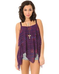 Free People Pieced Top blue - Lyst