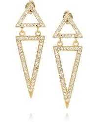 Halleh - 18karat Gold and Diamond Triangle Earrings - Lyst