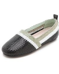 House Of Harlow 1960 Woven Kye Flats - Lyst