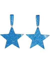 Jean Paul Gaultier Star Earring blue - Lyst