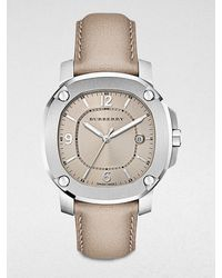 Burberry Stainless Steel Datefunction Watchtrench - Lyst