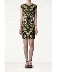 McQ by Alexander McQueen Yellow Butterfly Print Dress - Lyst