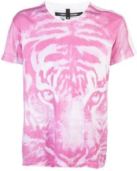 Sons Of Heroes Panther Tshirt pink - Lyst