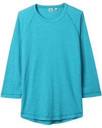 Uniqlo Men Light Waffle Crew Neck 34 Tshirt A - Lyst