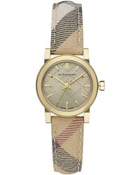 Burberry The City Check Strap Watch - Lyst