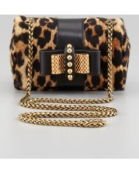 Christian Louboutin Sweet Charity Leopardprint Calf Hair Crossbody Bag - Lyst