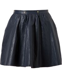 Felder Felder - Flared Leather Skater Skirt - Lyst