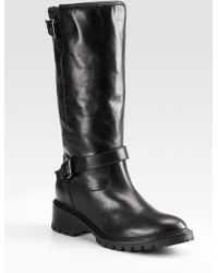 Fendi Leather & Rabbit Fur Knee-High Boots - Lyst