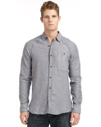 French Connection Greaser Denim Twill Shirt - Lyst