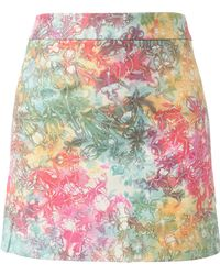 House of Holland Tie-Dye Leather Miniskirt - Lyst