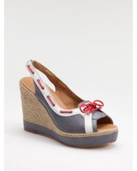 HUNTER - Slingback Wedge Espadrille Sandals - Lyst