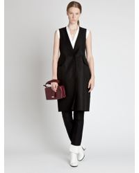 Jil Sander Vneck Dress - Lyst