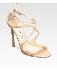 Jimmy Choo Lance Strappy Patent Leather Sandals - Lyst