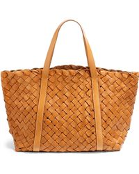 Massimo Palomba - Florida Woven Leather Eastwest Tote - Lyst