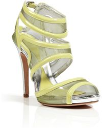 McQ by Alexander McQueen Meshpatent Leather Sandals - Lyst