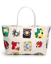Moschino Abstract Print Canvas Tote - Lyst