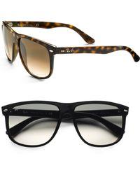 Ray-Ban Flattop Square Boyfriend Sunglasses brown - Lyst