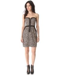 Rebecca Taylor Leo Strapless Dress black - Lyst