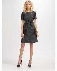 Robert Rodriguez Tweed Patch Pocket Dress - Lyst