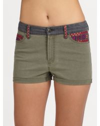 Sachin & Babi - Ariella Embroidered Cotton Shorts - Lyst