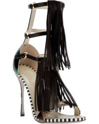 Sergio Rossi Tasseled Sandals - Lyst