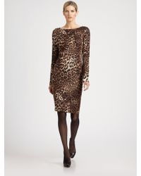St. John Cheetah Dress - Lyst