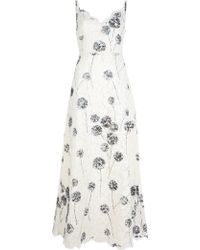 Valentino Full Length Lace Dress white - Lyst