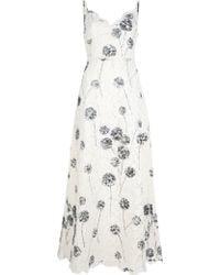 Valentino Full Length Lace Dress - Lyst