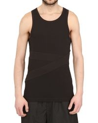 Adidas Slvr Cotton Jersey Banded Tank Top - Lyst