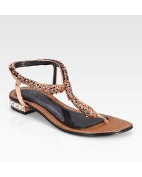 Boutique 9 | Rhinestone Panther Sandals | Lyst
