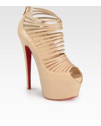 Christian Louboutin Zoulou Leather Platform Sandals - Lyst