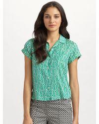 Diane von Furstenberg Kegler Shortsleeve Collar Shirt - Lyst