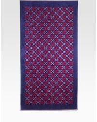 Gucci Logo Towel red - Lyst