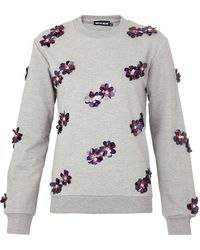 House of Holland Sequin Flower Sweater - Lyst