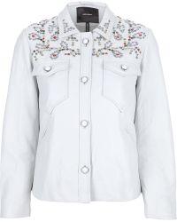 Isabel Marant Embellished Leather Jacket - Lyst