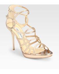 Jimmy Choo Bode Glitter Platform Sandals - Lyst