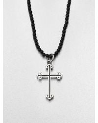 King Baby Studio Traditional Cross Beaded Necklace - Lyst