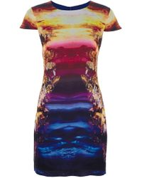 McQ by Alexander McQueen Mineral Sunset Print Dress - Lyst